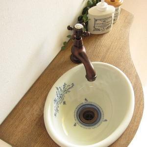 蛇口 洗面ボウル おしゃれ セット 天板 給排水部材一式 (床給水・床排水)| アンティーク調水栓 Matilda サブリナ(ブロンズ) Essence 可愛い小型手洗器|papasalada|02