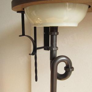 蛇口 洗面ボウル おしゃれ セット 天板 給排水部材一式 (床給水・床排水)| アンティーク調水栓 Matilda サブリナ(ブロンズ) Essence 可愛い小型手洗器|papasalada|04