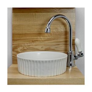 PIVOT(ピヴォ) スワン立水栓 ベッセル型手洗器 3点セット トイレに おしゃれな小型手洗い器と水栓セット|papasalada