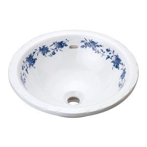 AJS-107 おしゃれ 洗面器 洗面ボウル プラン・ド・パリ ブルージョセフィーヌラウンドL 洗面ボール papasalada