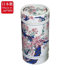 美しく華やか、艶やかな染錦。金彩桜絵が描かれたちり入れです。  染錦金彩桜絵シリーズは、トイレペーパ...