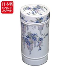 高貴な藤の花柄が描かれた有田焼、染付藤絵シリーズのダストボックスです。 こちらの染付藤絵シリーズは、...