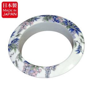 高貴な藤の花柄が描かれた有田焼、染付藤絵シリーズのダストシュートです。 こちらの染付藤絵シリーズは、...