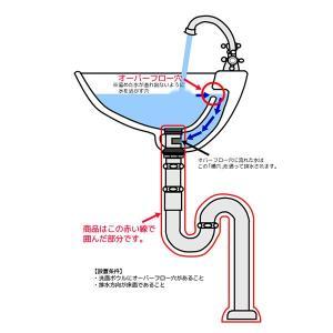 横穴付きSトラップ32(クロム) 洗面ボウル用の排水金具|papasalada|03