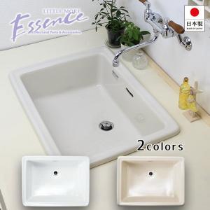 洗面ボウル 四角 陶器製 Lレクタングル ブランカ リネン 洗面器 洗面所 ラバトリー E274240 E350060|papasalada