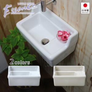 壁掛 手洗器 Sレクタングル 選べる2色 横水栓用 小型 省スペース コンパクト 手洗い 手洗い場 トイレ|papasalada