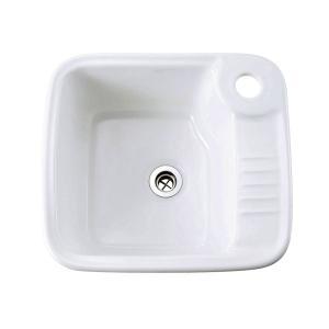 E274220 おしゃれ 洗面ボウル 手洗器 Essence ユーティリティシンク(ブランカ) エッセンス イブキクラフト|papasalada