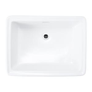 洗面ボウル 四角 陶器製 Lレクタングル ブランカ|papasalada