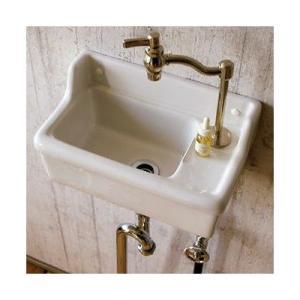 壁掛 小型 手洗器 Sレクタングル 立水栓用 ブランカ|papasalada|02