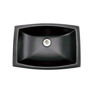 E323011 おしゃれ 洗面ボウル Essence Mレクタングル洗面器(グラファイト) エッセンス イブキクラフト|papasalada