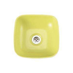 小型 手洗器 陶器 エッセンス Sスクエア シトラス|papasalada