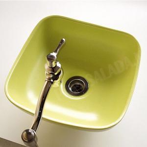 小型 手洗器 陶器 エッセンス Sスクエア シトラス papasalada 02