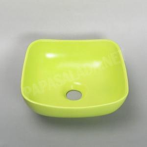 小型 手洗器 陶器 エッセンス Sスクエア シトラス papasalada 03