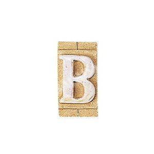 E3271-B 表札 ネームプレート Essence ネームタイル「B」(大文字) 表札エクステリア メール便対応可|papasalada