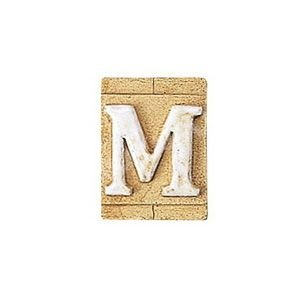E3271-M 表札 ネームプレート Essence ネームタイル「M」(大文字) 表札エクステリア メール便対応可|papasalada