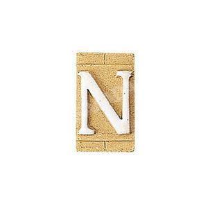 E3271-N 表札 ネームプレート Essence ネームタイル「N」(大文字) 表札エクステリア メール便対応可|papasalada