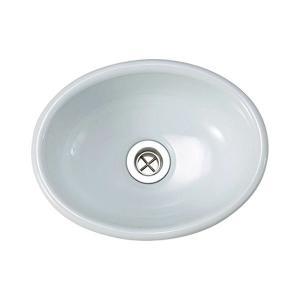小型 手洗器 手洗い鉢 縹色 はなだ Sオーバル エッセンス|papasalada