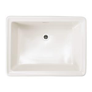 洗面ボウル 四角 陶器製 Lレクタングル リネン|papasalada