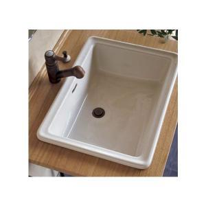 洗面ボウル 四角 陶器製 Lレクタングル リネン papasalada 02