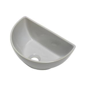 小型 手洗器 陶器 エッセンス クレセント 灰白 はいじろ|papasalada