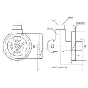 EP17149 Essence アングル止水栓(ブラス) 壁用の給水金具・止水栓 エッセンス イブキクラフト|papasalada|02