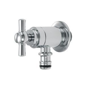 G102-IM 蛇口 ガーデン ホース接続 レバー水栓 (クロム) 立水栓用ホース栓 おしゃれ蛇口 屋外用|papasalada