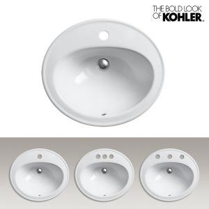 KOHLER/コーラー オーバル洗面器 Pennington(ペニントン) 海外ブランド 輸入 洗練されたデザイン 機能的 おしゃれなラバトリーシンク|papasalada
