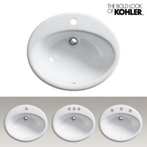 KOHLER/コーラー オーバル洗面器 Farmington(ファーミントン) 海外ブランド 輸入シンク 楕円形デザイン 機能的 おしゃれな洗面台|papasalada