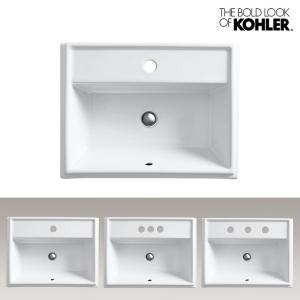 KOHLER/コーラー レクタングル洗面器 Tresham(トレシャム) 海外ブランド 輸入シンク 長方形デザイン 機能的 おしゃれな洗面台|papasalada