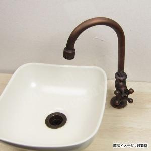 蛇口 グースネック立水栓(ブロンズ)|papasalada|02