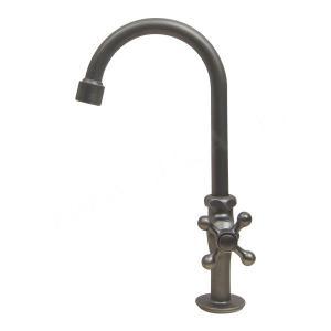 蛇口 グースネック立水栓(ブラックサテン) 水道 蛇口 papasalada