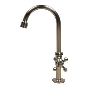 単水栓 グースネック立水栓(ニッケル) 手洗器用トイレの蛇口 papasalada