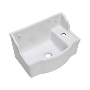 おしゃれ 洗面ボウル 壁掛け手洗器 バケットタイプ 角形 国産 立水栓用 手洗いボウル papasalada