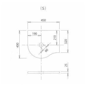 KT-01 素朴でかわいい上置き小型手洗器の専用 ハンドメイド カウンター  (ブラウン/S) papasalada 03