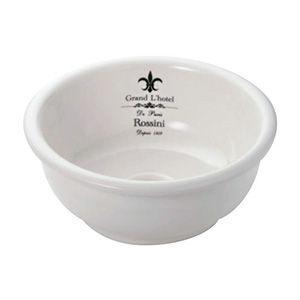 L-CRE-WS1601 可愛い洗面ボウル ラ・メゾンウォッシュボウル(φ300mm) クレストホワイト 小型 手洗器 アンティーク調 papasalada