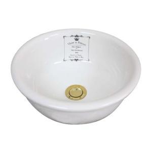 L-CRO-WS1601 小型手洗器 可愛い洗面ボウル ラメゾン ウォッシュボウル(φ300mm) クラウンホワイト papasalada