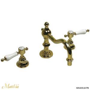 蛇口 おしゃれ アンティーク調 洗面用 混合栓 マチルダ スパニッシュ・キャッスルCL(ブラス)|レトロ調 輸入水栓 Matilda|papasalada