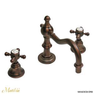 蛇口 おしゃれ アンティーク調 洗面用 混合栓 マチルダ スパニッシュ・キャッスルCC(ブロンズ)|レトロ調 輸入水栓 Matilda|papasalada