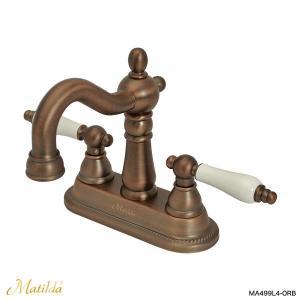 蛇口 アンティーク調 混合栓 洗面用蛇口 マチルダ水栓金具 ハーデン・ネオ(ブロンズ) Matilda|papasalada