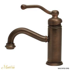 洗面 トイレ 蛇口 おしゃれ 混合栓 マチルダ ベルフリー・クラシック(ブロンズ)|レトロ調水栓 Matilda|papasalada