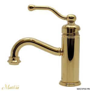 洗面 トイレ 蛇口 おしゃれ マチルダ ベルフリー・クラシック(ブラス)|レトロ調水栓 Matilda|papasalada