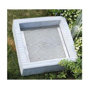 クレスパン専用ステンレスプレート 立水栓の庭用水受け|papasalada