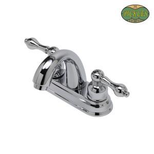 2レバー混合栓 4インチタイプ 水栓 蛇口 洗面所 PICKLES ピクルス|papasalada