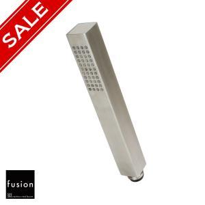 シャワーヘッド fusion SSB760 ステンレス・シンプルシャワーヘッド(スクエア) バスルーム用水栓|papasalada