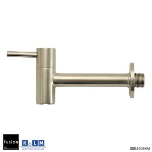 壁付単水栓 KOLM ステンレス・ガーデン水栓(ロング) ガーデニング蛇口 屋外用横水栓|ステンレス水栓金具 fusion|papasalada