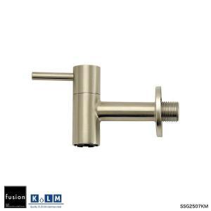 壁付単水栓 KOLM ステンレス・ガーデン水栓(ショート) ガーデニング蛇口 屋外用横水栓|ステンレス水栓金具 fusion|papasalada