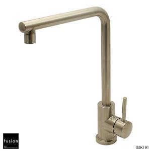 蛇口 キッチン用 SSK191 ステンレス・シングルレバーキッチン混合栓|フュージョン水栓金具|papasalada