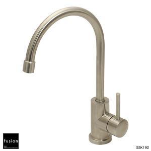 キッチン用蛇口 SSK192 ステンレス・シングルレバー・キッチン混合栓|fusion水栓金具|papasalada