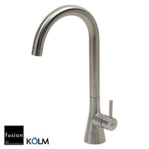キッチン蛇口 混合栓 KOLM SSK6013KM ステンレス・シングルレバー・キッチン混合栓 ステンレス水栓金具 fusion papasalada