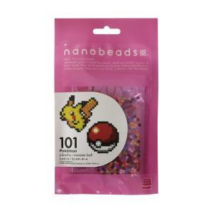 ナノビーズ 80-63006 101 ピカチュウ/モンスターボール (カワダ アイロンビーズ)|paprika8